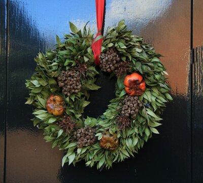 Kerstkrans voordeur